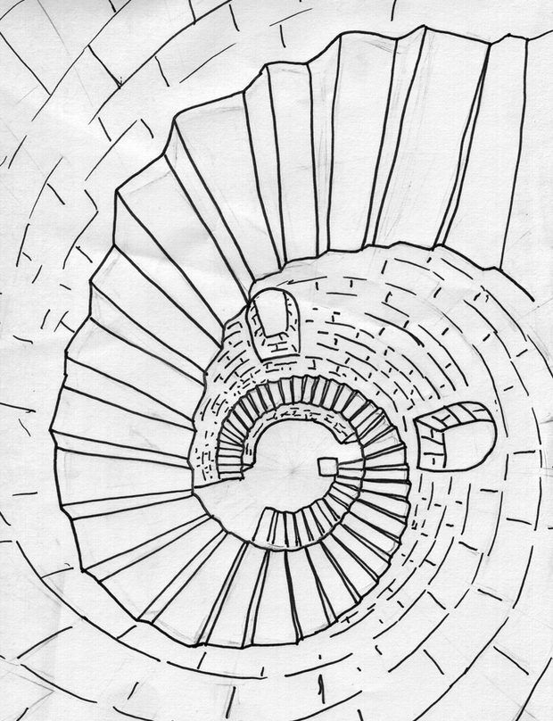 Best How To Draw A Spiral Staircase In Perspective 3D 400 x 300
