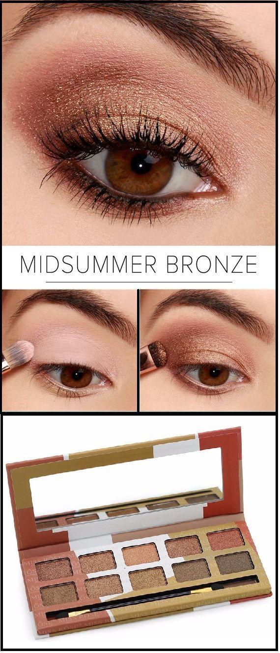 Midsummer Bronze eye shadow palette Wingedliner Glitter