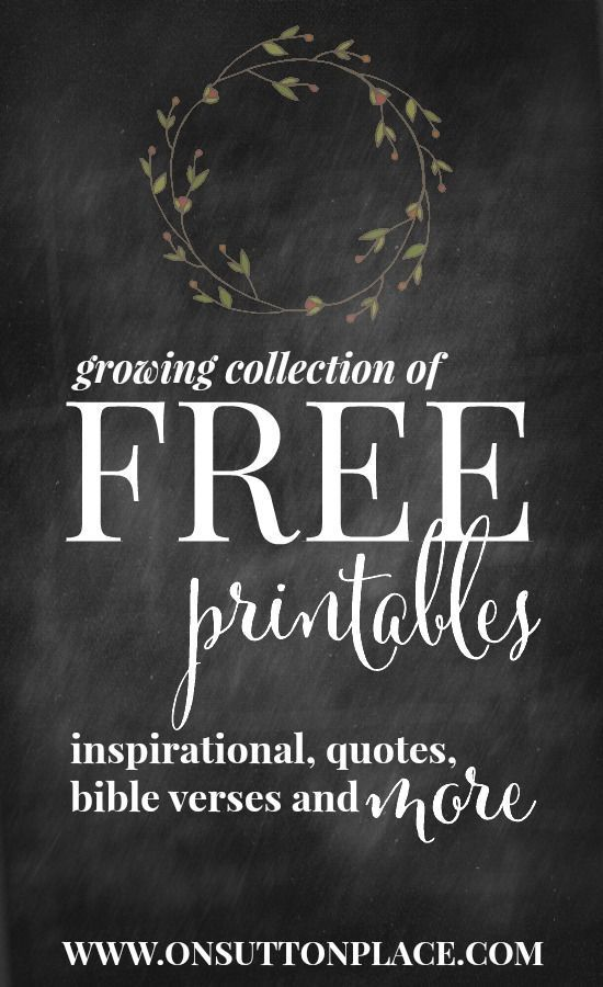 Inspirational Free Printables: Instant Downloads | Printing | Diy