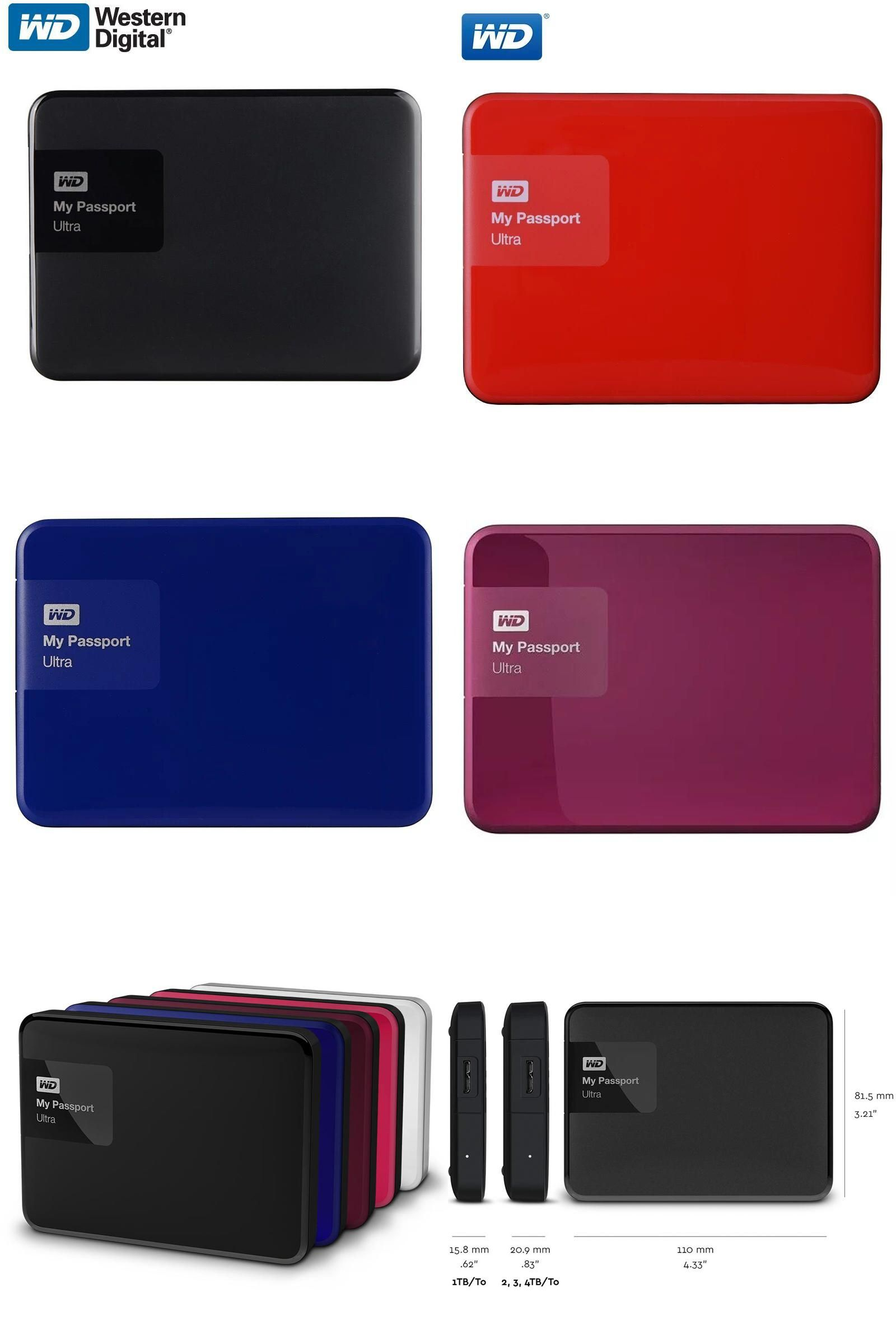 Visit To Buy Wd My Passport Ultra External Hard Drive Disk Hd 1tb High Capacity Sata Usb 3 0 Storage Dev Laptop Computers External Hard Drive Storage Devices