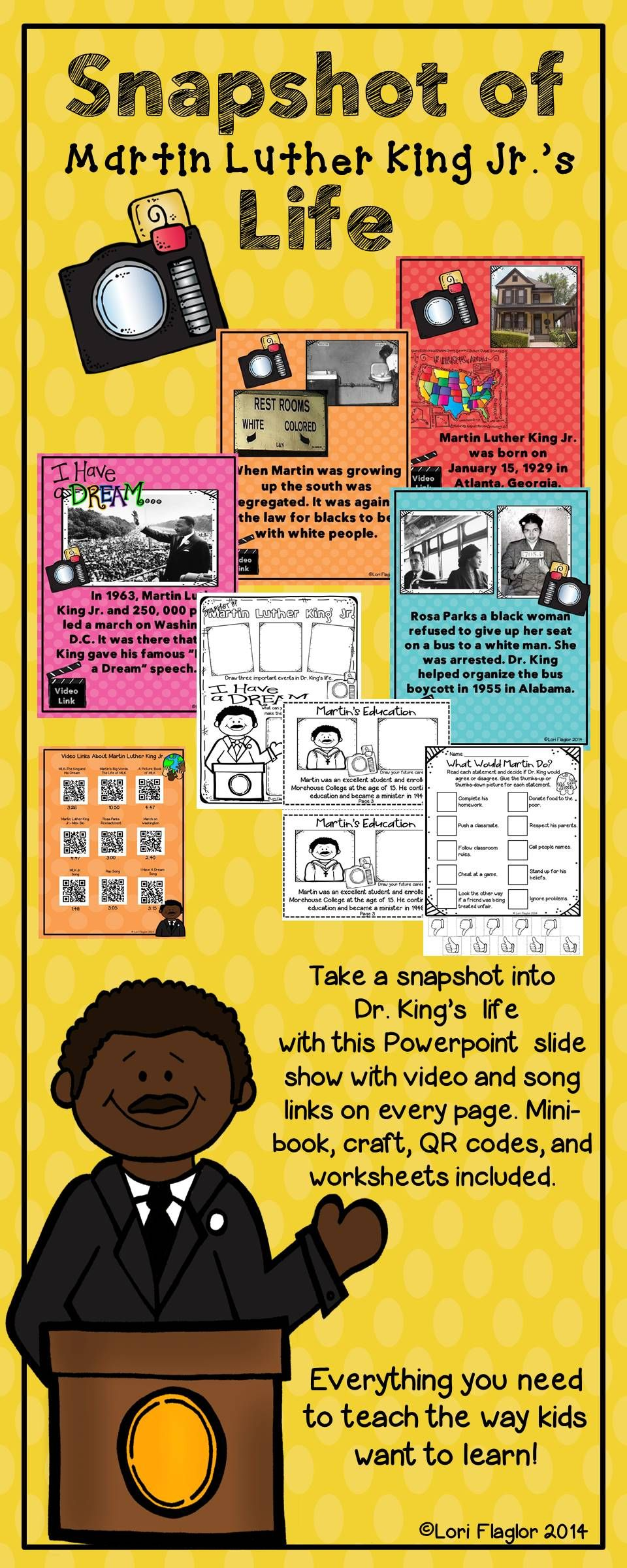 Everything you need to teach about Martin Luther King Jr. the way the children learn best!