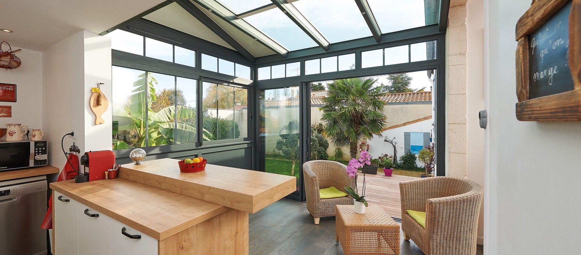 Célèbre Véranda Fillonneau en extension de cuisine | Vérandas style  RW45