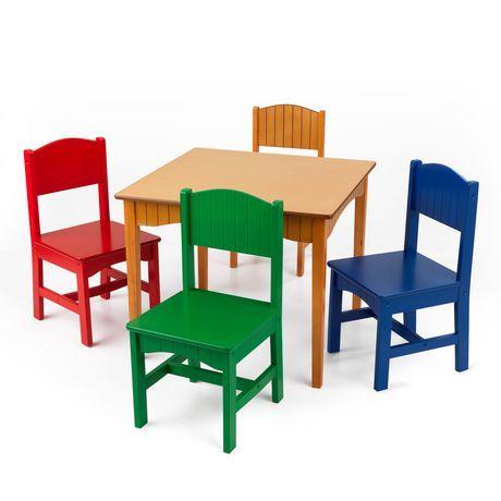 Kidkraft Kidkraft Nantucket Table 4 Primary Chairs In 2020