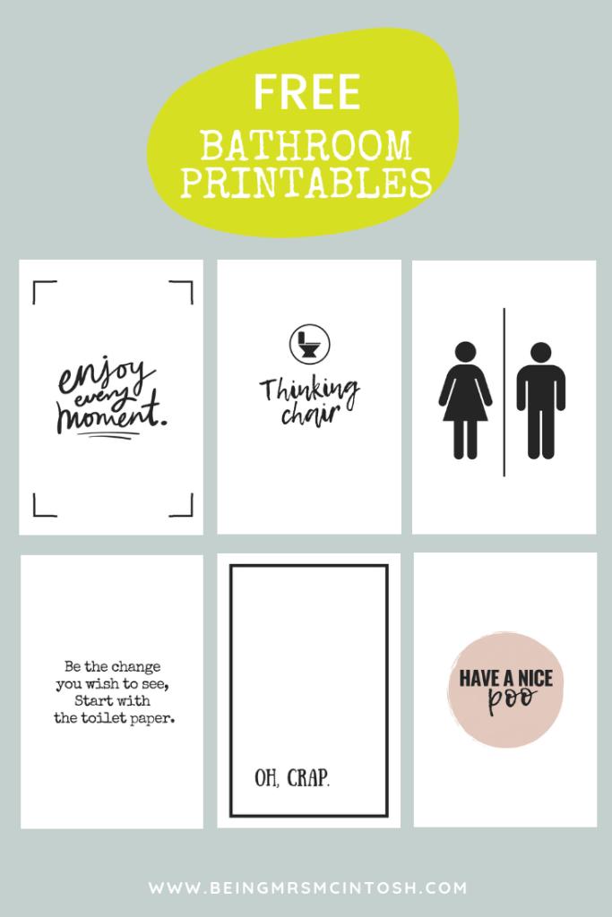 Photo of Printable Bathroom Signs | Being Mrs McIntosh