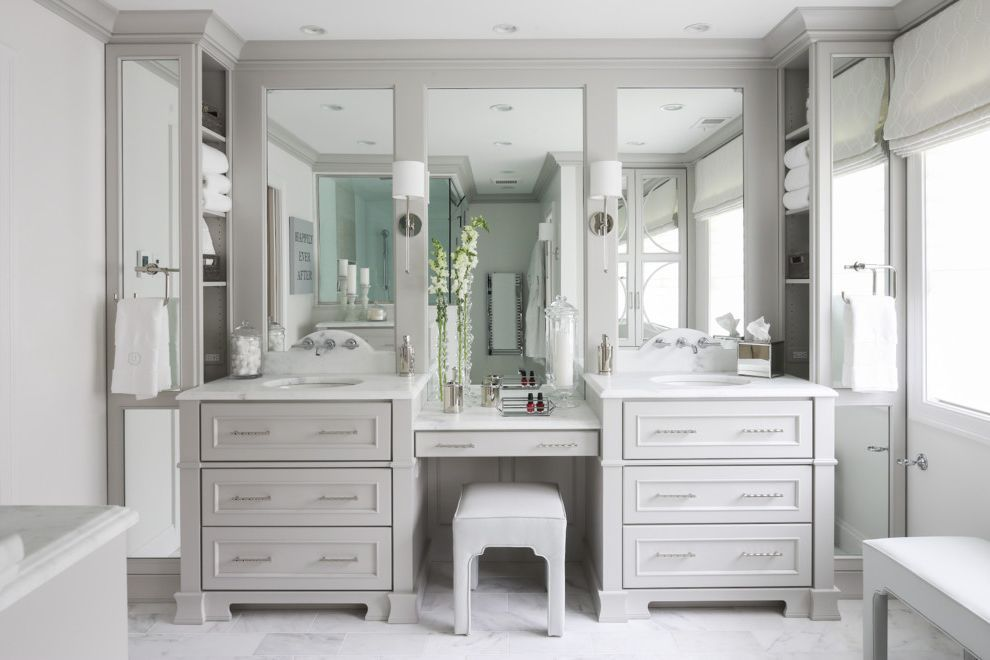 single sink vanity with makeup area traditional bathroom on vanity bathroom id=51211