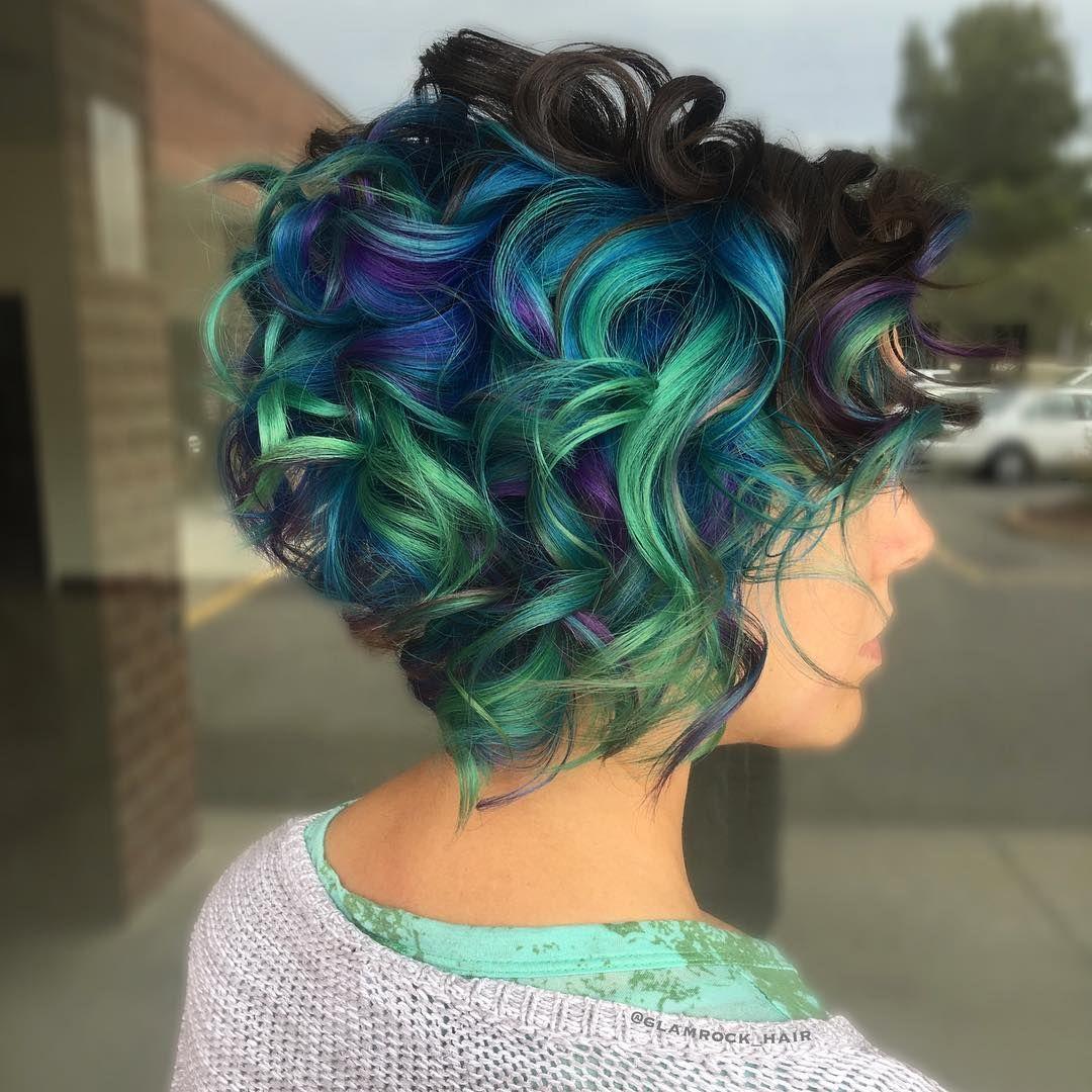 Peacock hair by glamrockhair glorious hair colours pinterest