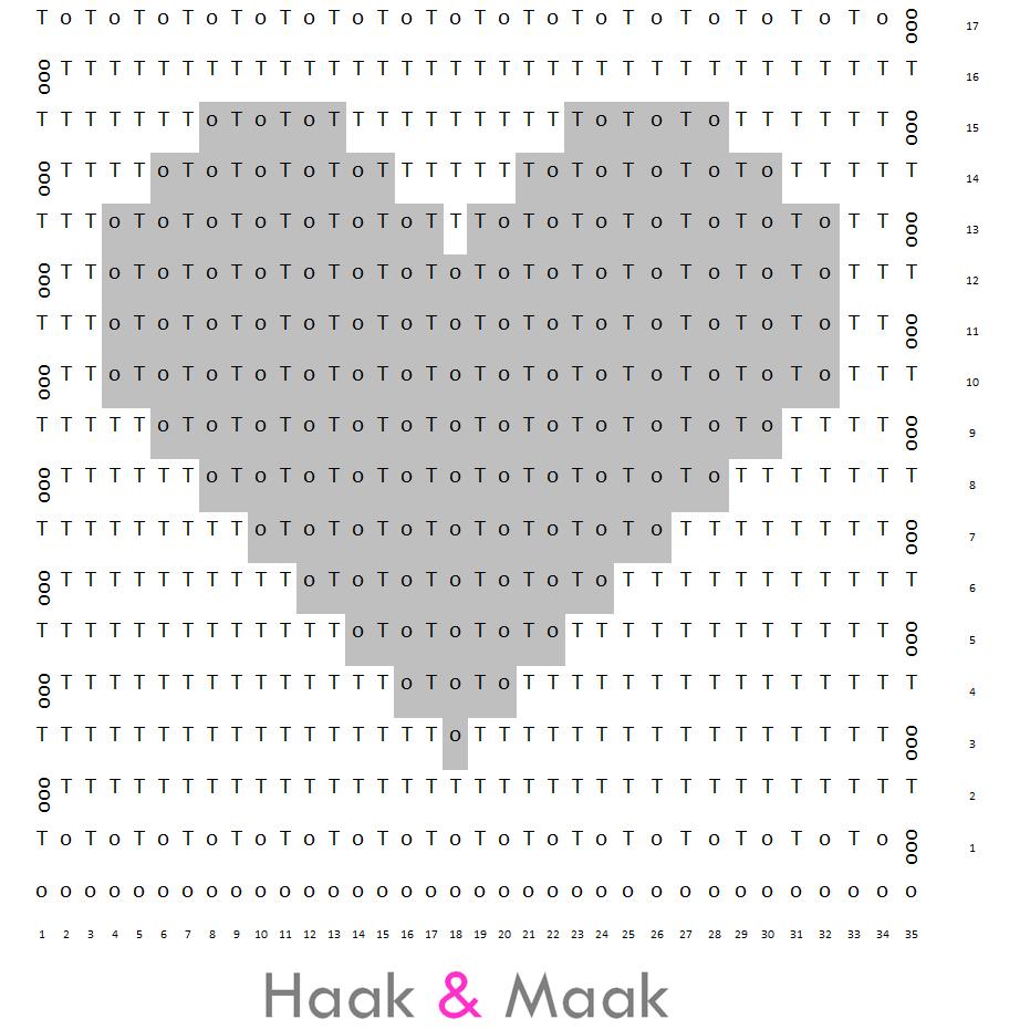 Patroon+filet+gehaakt+vlaggetje+hart.png (922×931)   filet   Pinterest
