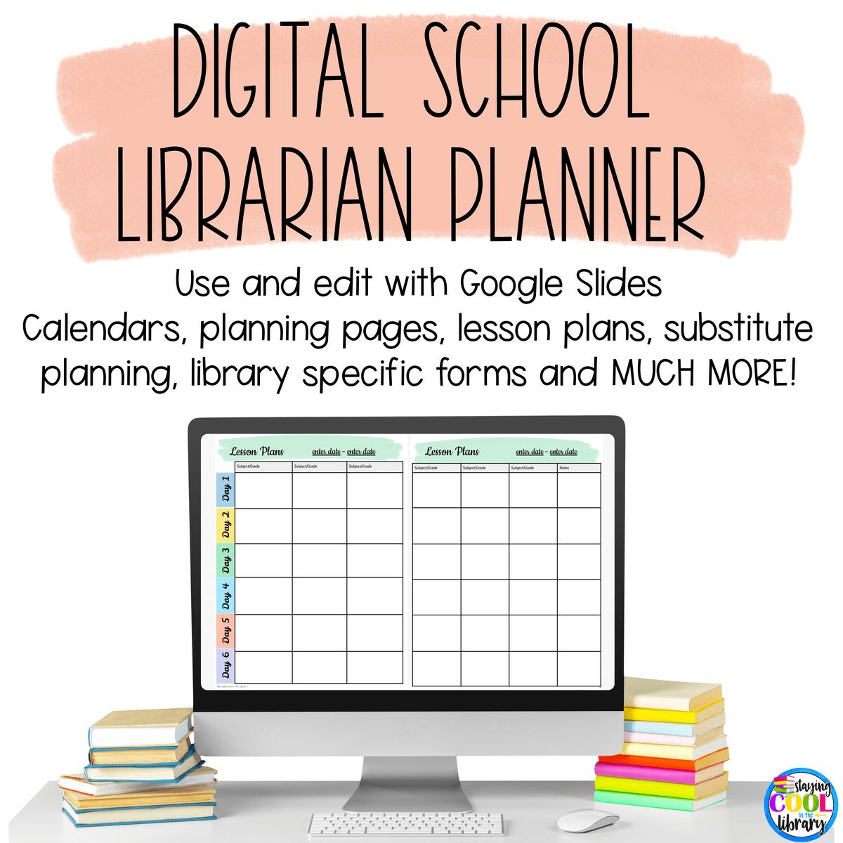 Digital School Library Planner (Google Slides) in 2020