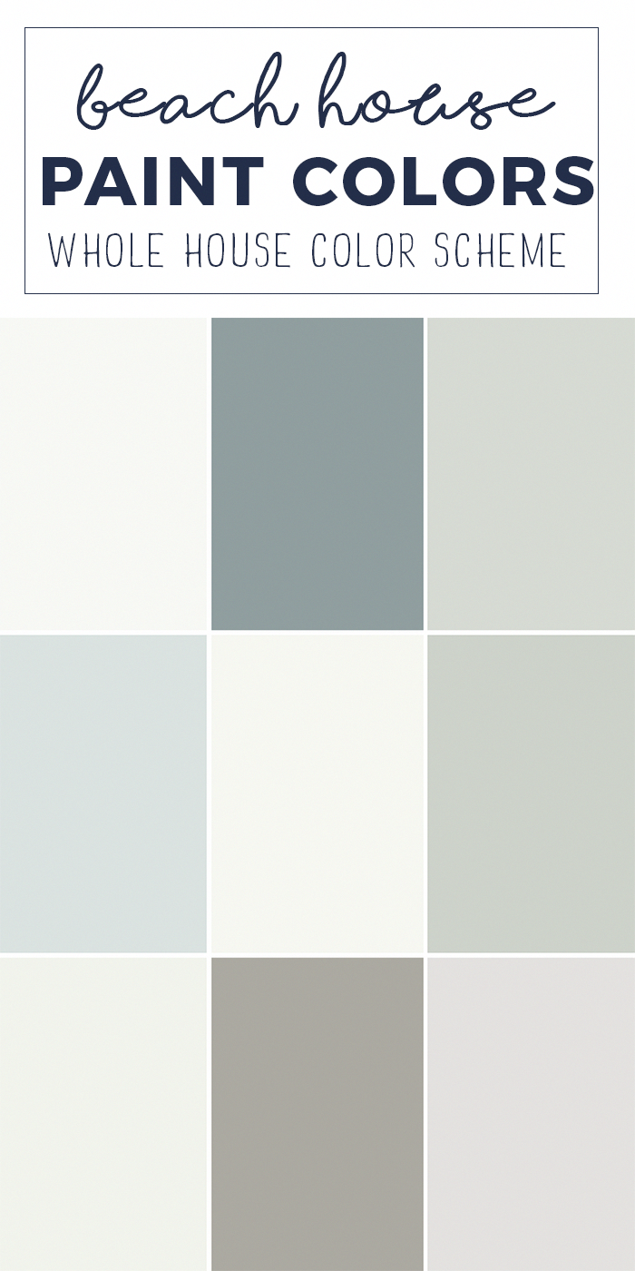 whole house paint colors for a light and bright beach on beach house interior color schemes id=65817