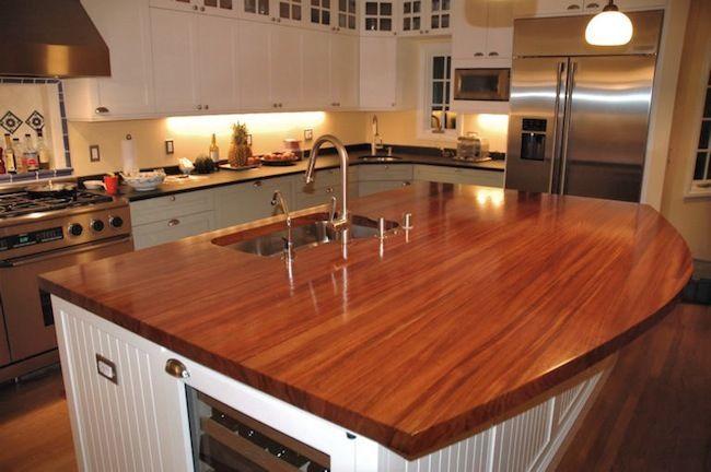 Unique Alternatives To Granite Countertops Wood Kitchen Island
