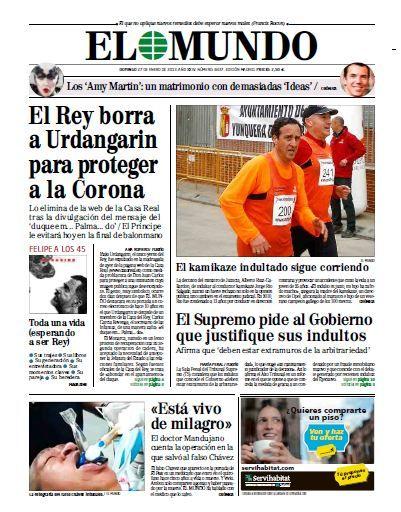 Pdf Magazine Free El Mundo 27 Enero 2013 Portadas De Diarios Portadas De Periodicos Diario Español