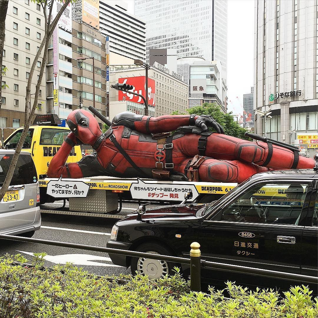 Mientras tanto #deadpool tomando una merecida siesta después de probar nuestros #ramen #boxfromjapan   www.boxfromjapan.com  Meanwhile Deadpool taking a well deserved nap after trying out #instantnoodle