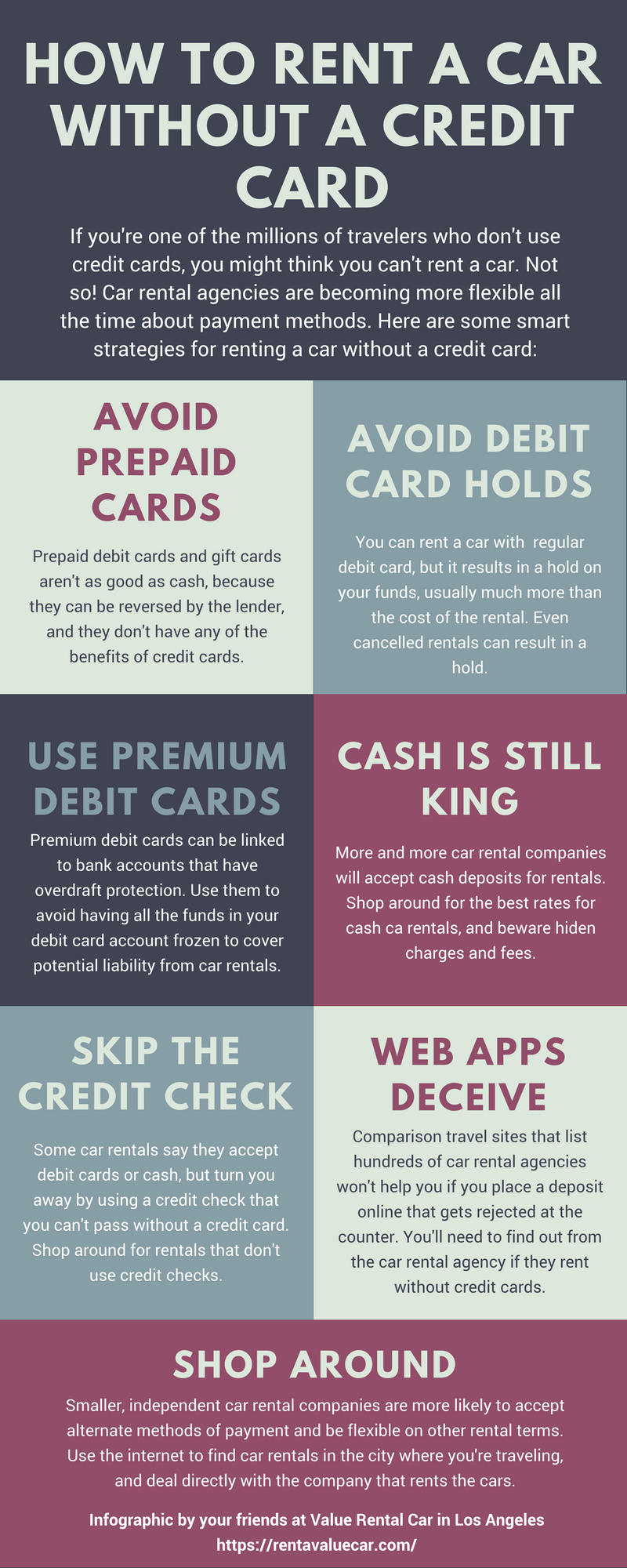 How To Rent A Car Without A Credit Card Value Rental Car Credit Card Infographic Rent A Car Credit Card