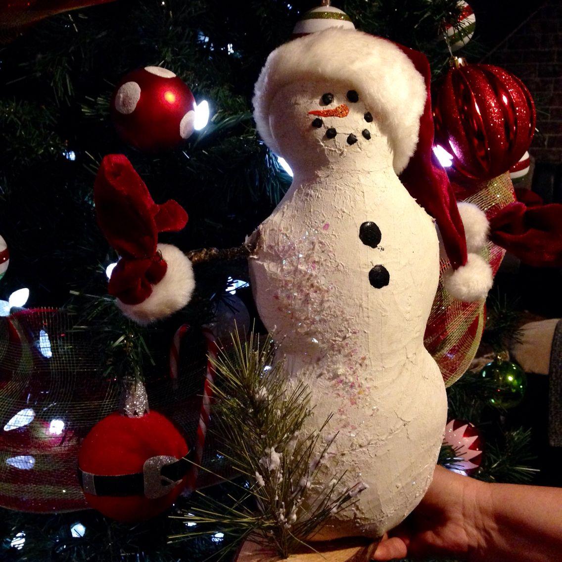 My little chubby glittery snowman