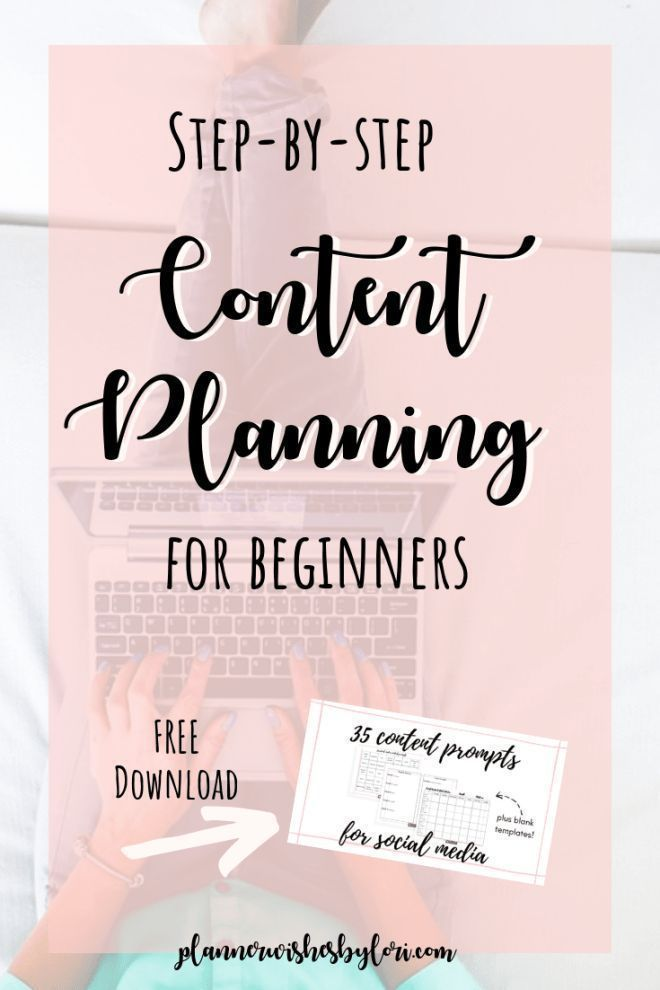 I know one of the biggest struggles with those who use social media is content planning, so I'm going to share my process with you.