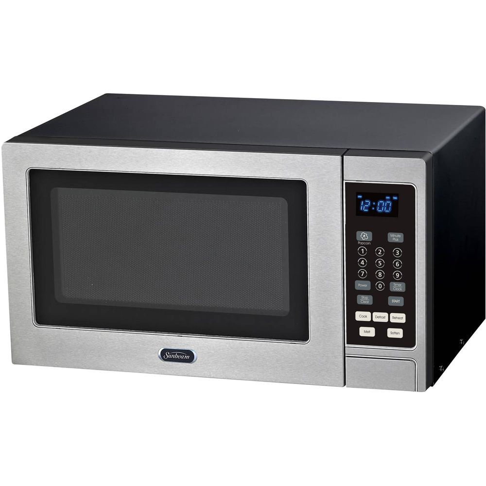 Best Products Sunbeam Cu Ft Digital Compact Countertop Microwave Oven Small Footprint Stainless Steel Face 900 Watts X Model Not