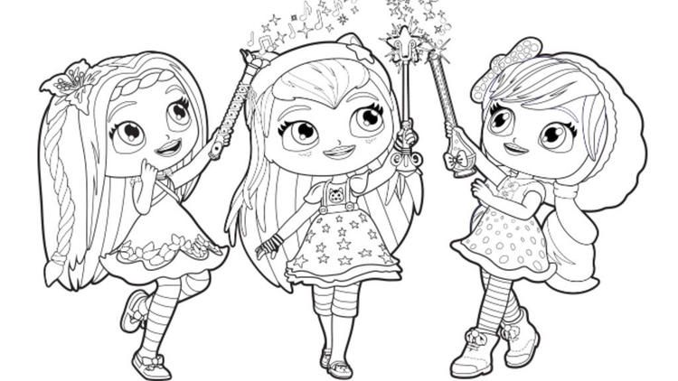 Little Charmers Group Coloring Pages Nick Jr Lc Nick Jr Coloring Pages Little Charmers Coloring Pages
