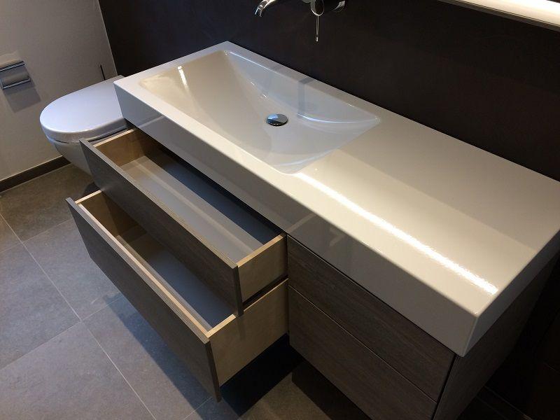 Schubladen Badezimmer ~ Badezimmer ideen hängender waschtischunterschrank mit 4