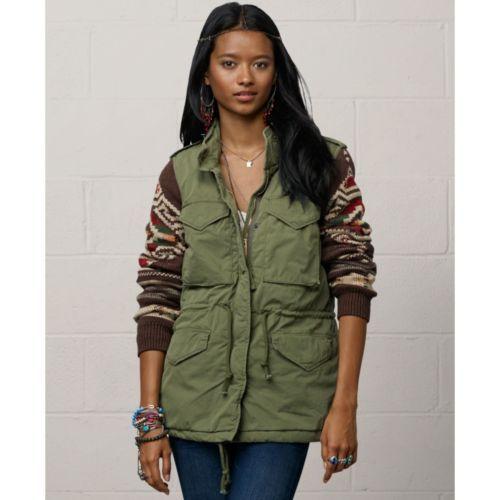 f1a6d46352c9d Denim-Supply-Ralph-Lauren-Women-Military-Army-Southwestern-Sweater-Sleeve- Jacket