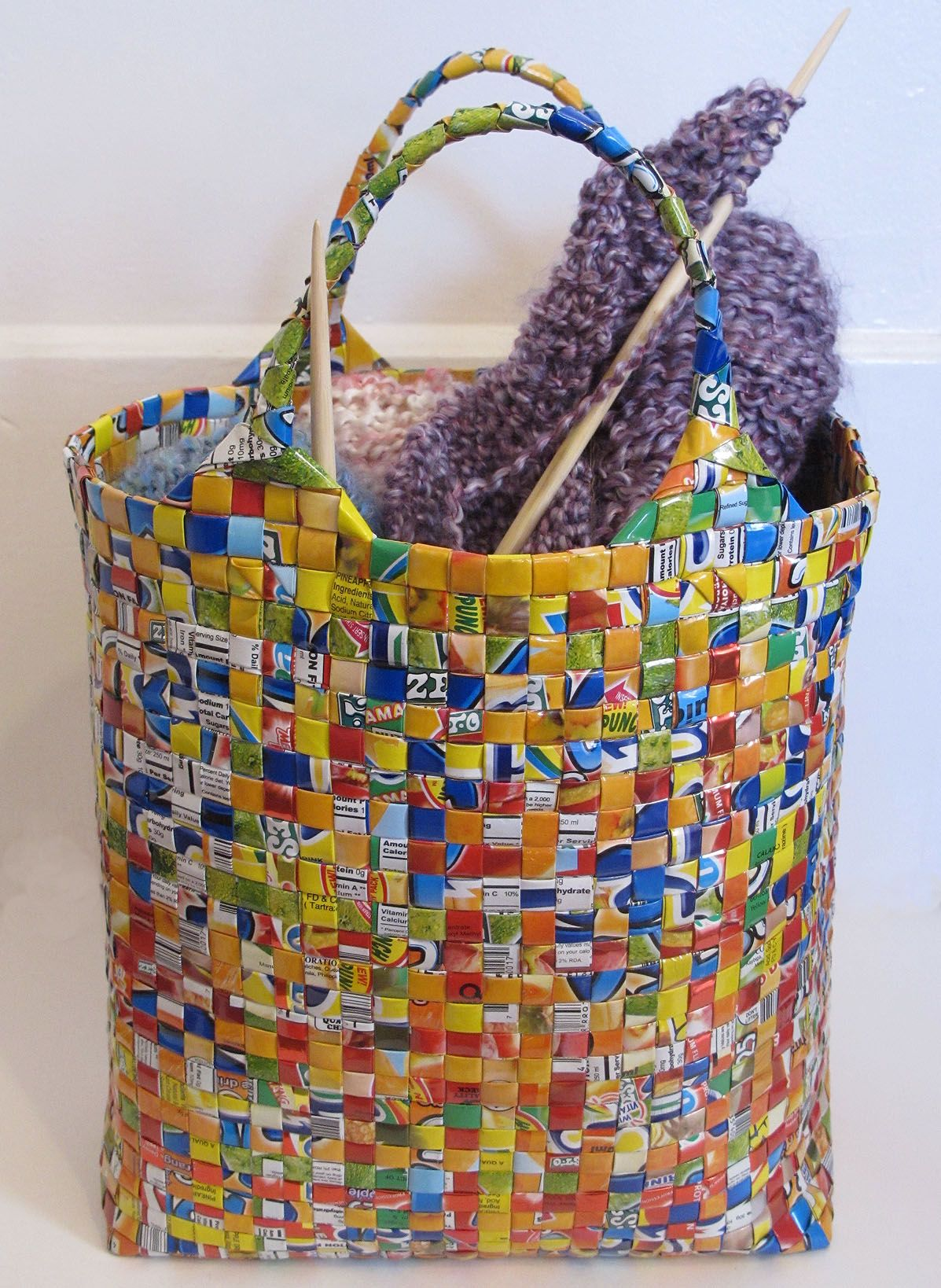 Paper Weaving Diy Bags Purses Recycled Fashion Magazines