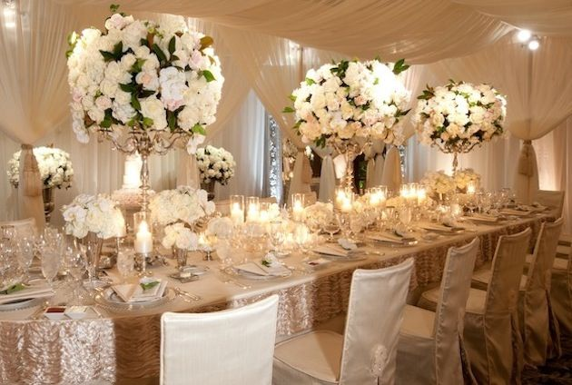 The Dramatic Look of All-White Centerpieces | Wedding flower ...