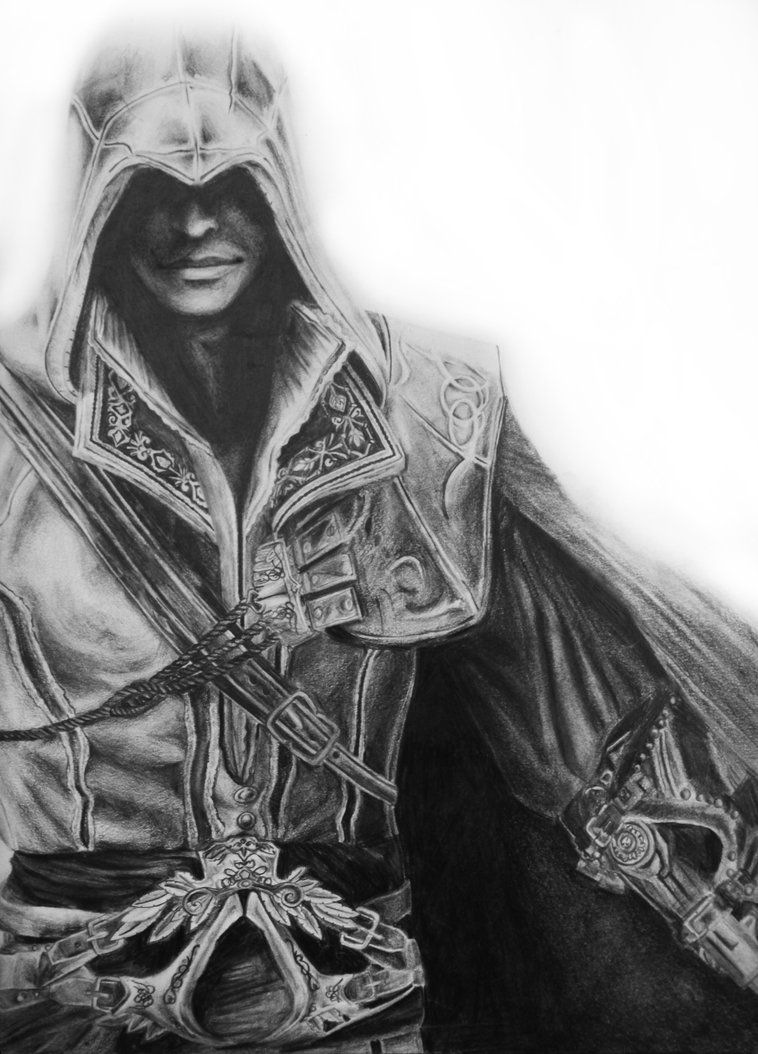 Assassins Creed Ezio Drawing Assassins Creed Assassin Creed