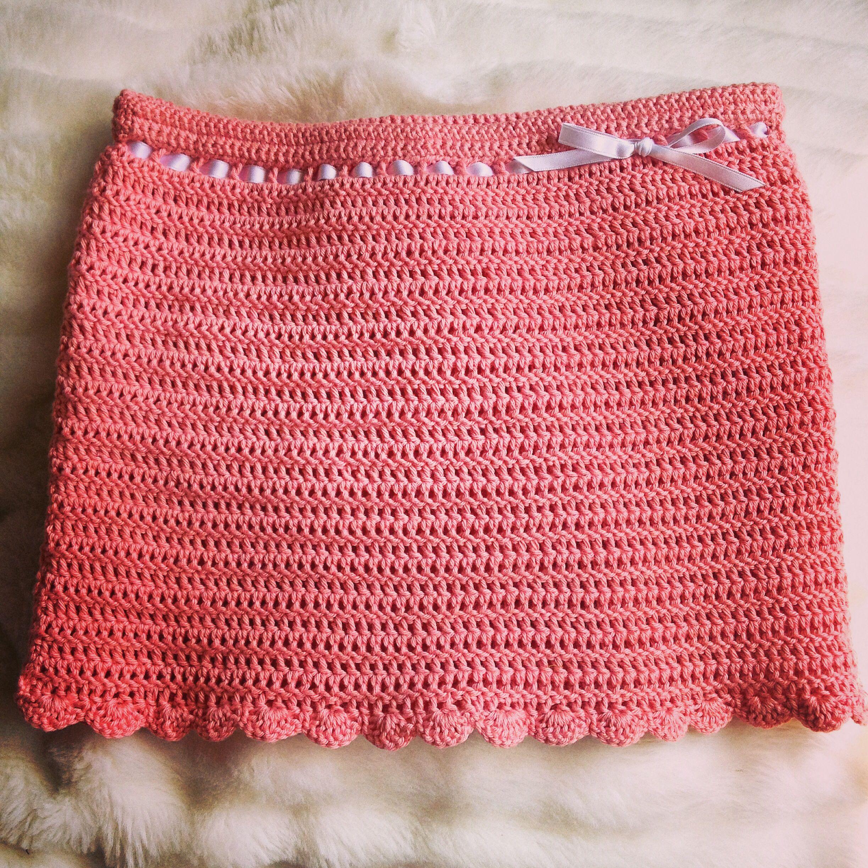 33fc0a4b8c77 Homemade crochet skirt - to a girl