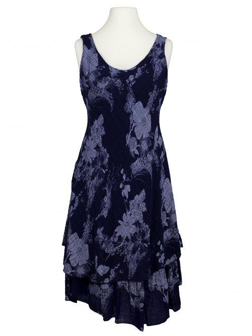 Damen Baumwollkleid Lagenlook, blau von Diana bei www.meinkleidchen.de