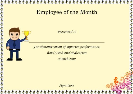 EmployeeOfTheMonthCertificatesEditable  Employee Of The