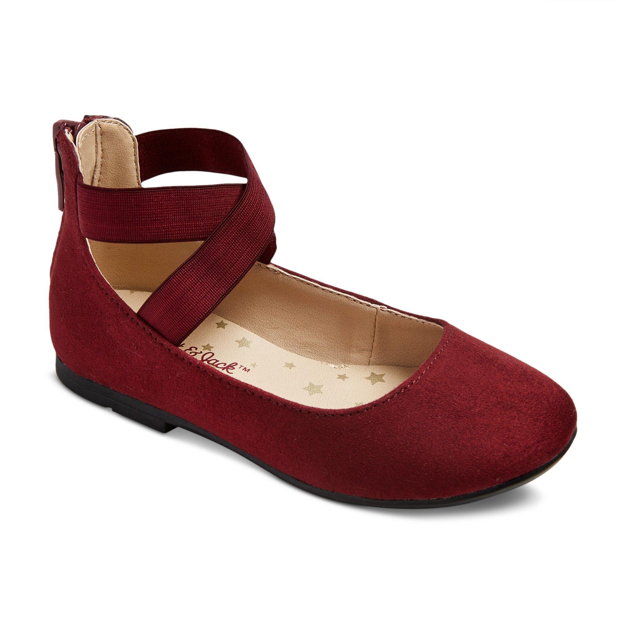 9a943d6dd31 Toddler Girls' Candace Ballet Flats 10 - Cat & Jack - Burgundy (Red ...