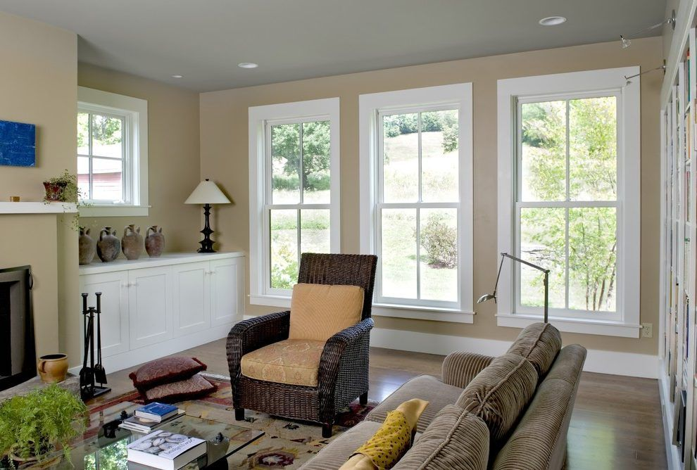 Window trim ideas interior home office transitional with
