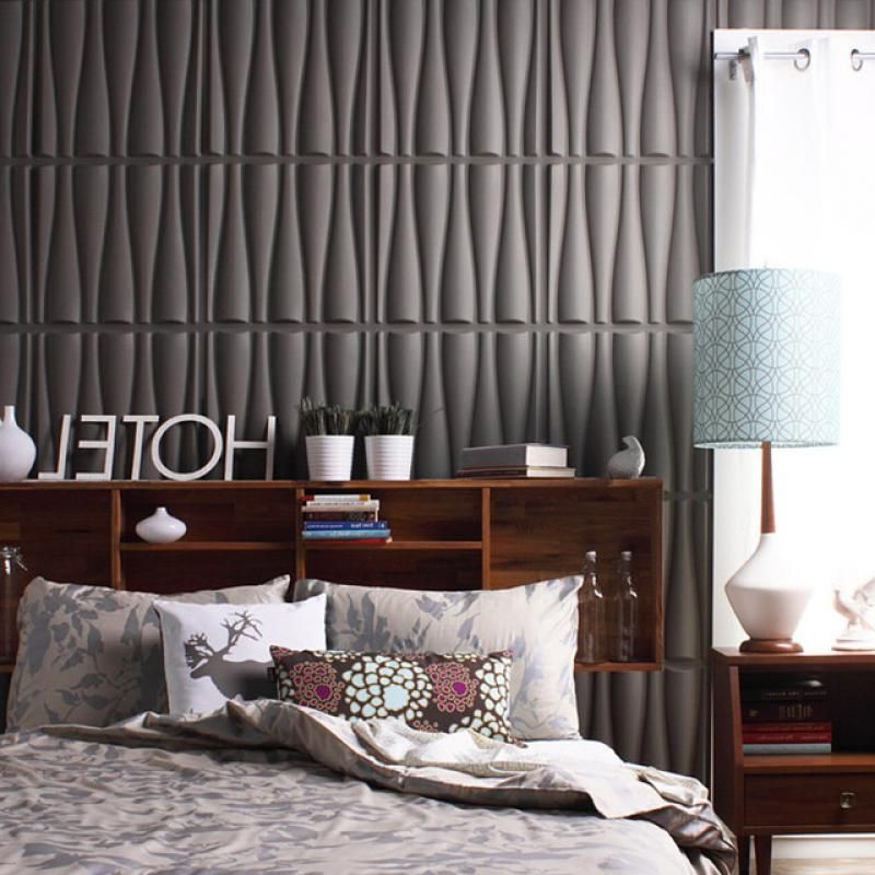 Modern wallpaper for master bedroom with 3d wallpaper for Cool wallpaper designs for bedroom
