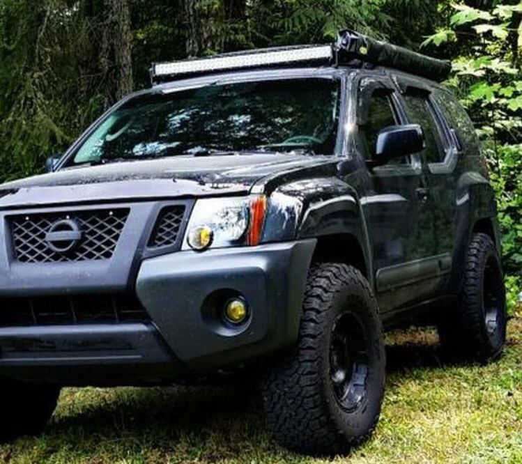 Nice Wheel Tire Setup Blacked Out Front Nissan Xterra Nissan Xtrail Nissan Trucks