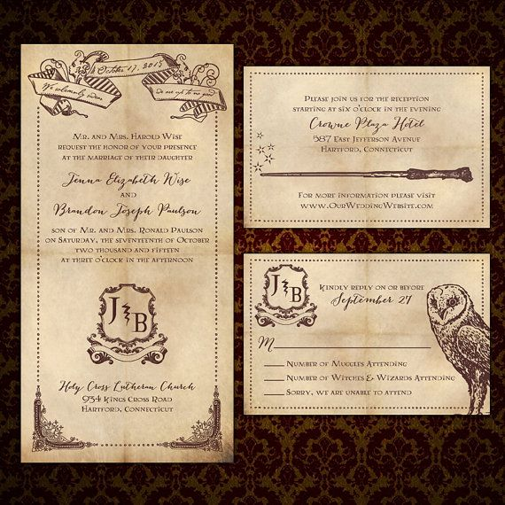custom we solemnly swear harry potter inspired wedding invitations by puttinontheglitz4u - Harry Potter Wedding Invitations