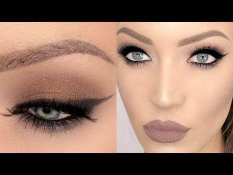 90s Cat Eye Liquid Lipstick Makeup Tutorial Good For Hooded