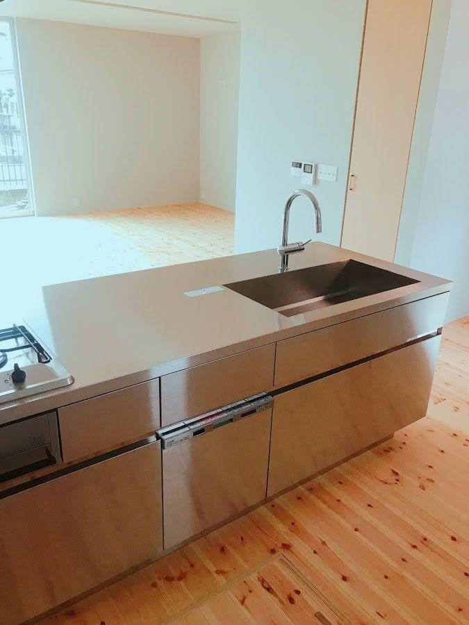 シンプルスタイルにこだわった開放感あふれる家 キッチン