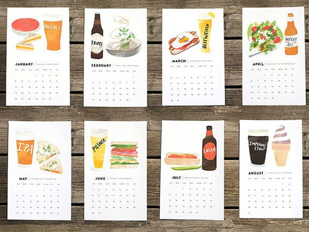 Calendars for 2014 that look good enough to eat