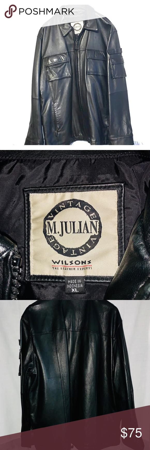 Mens Xl M Julian Leather Jacket Like New Leather Jacket Wilsons Leather Jacket Mens Xl