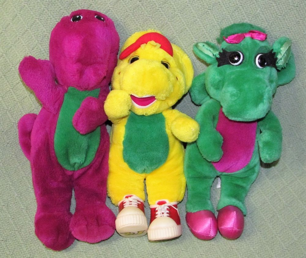 Details Bedtime Barney Dinosaur Plush Toy Thermal