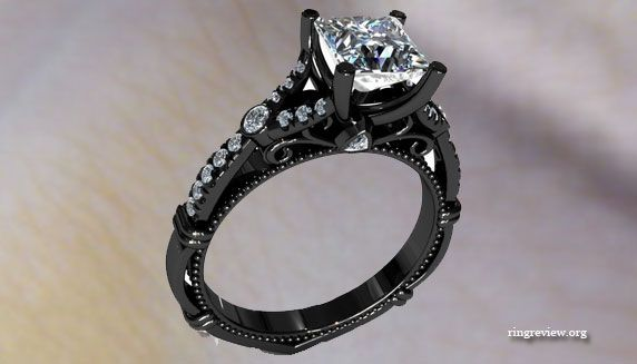 Unique Black Diamond Engagement Rings Jewelry Trendy Engagement