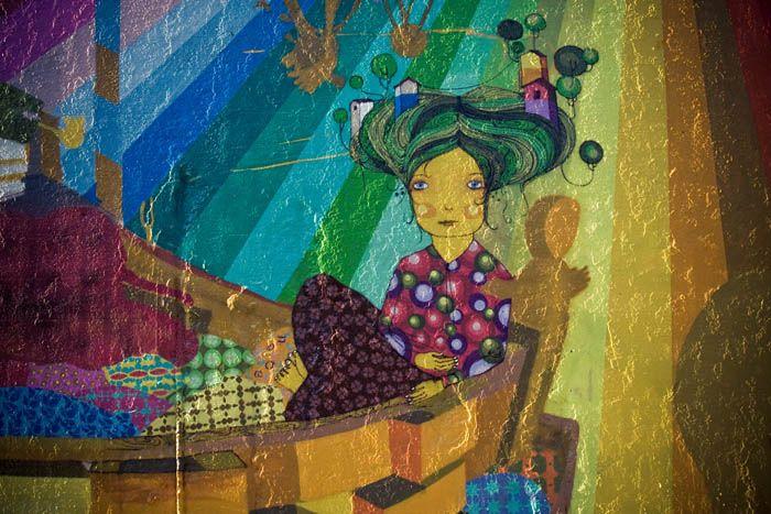 Mural at Bowery and Houston, NYC. Os Gemeos.