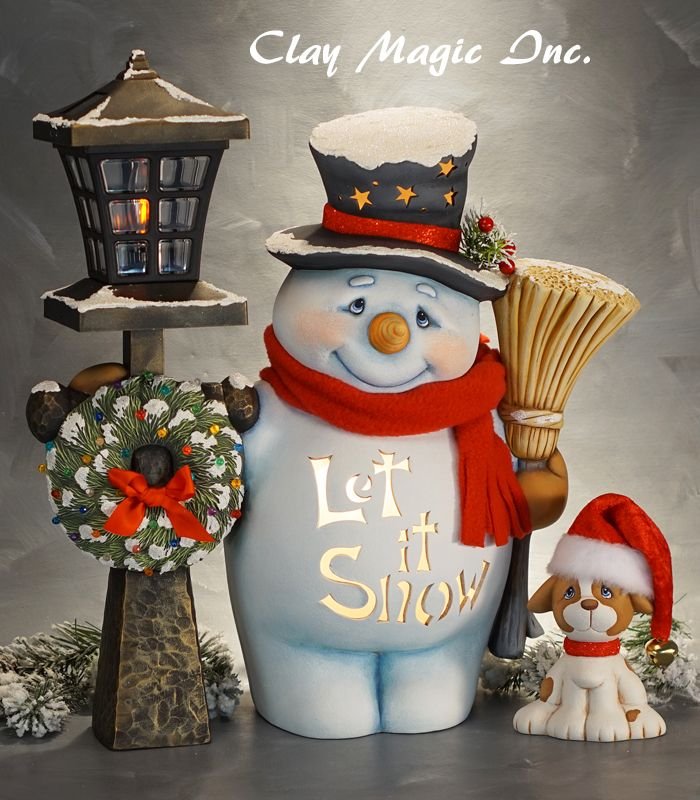 Painting Church In Snow Religious Christmas Ceramic: Clay Magic - Gallery