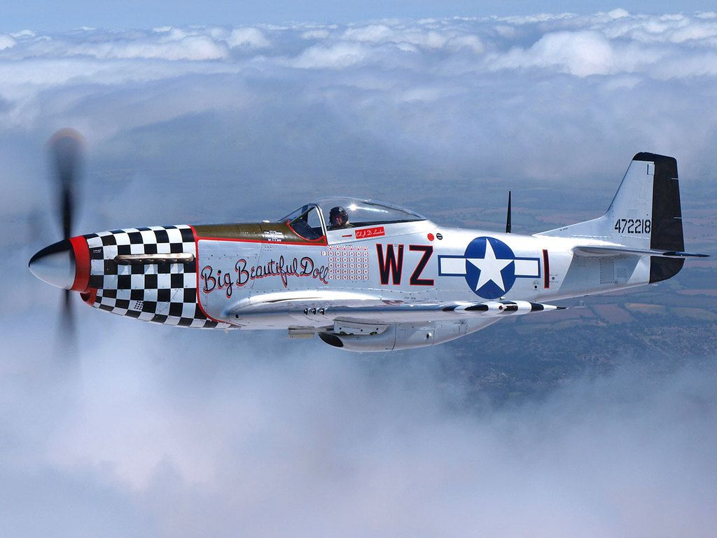 the north american p51d mustang. pound for pound the greatest