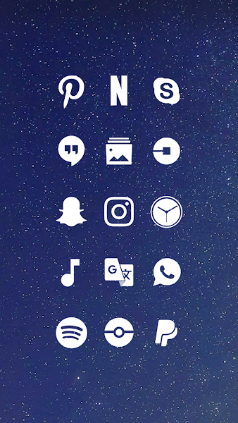 Whicons White Icon Pack v9.15.0 Icon pack, Dashboard
