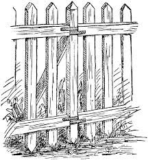 This Simple Fence Had A Great Meaning Throughout This Book And Also Throughout Cory S Life To Me This Represents Fence Clipart Picket Fence White Picket Fence