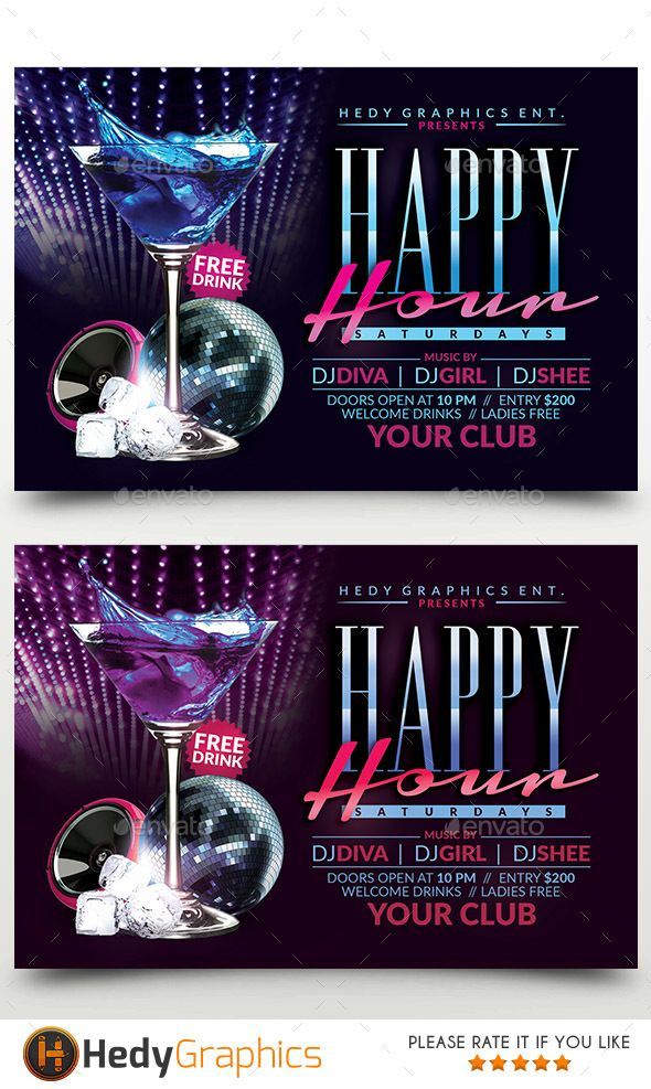 Happy Hour Flyer Pinterest Happy Hour Flyer Template And Template