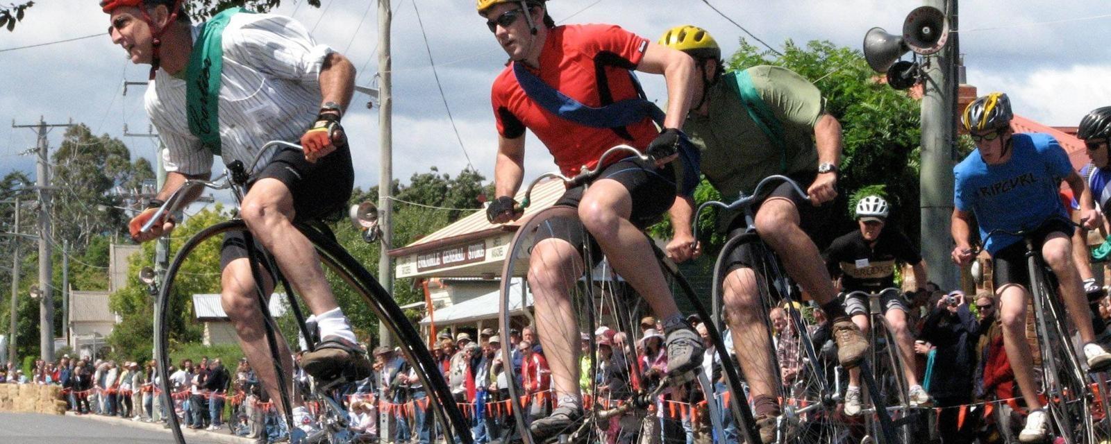 Highwheeling Bike Races In Australia Racing Bikes Bike Types Of Cycling