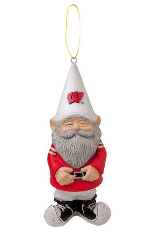 Wisconsin Badgers Ornament - Gnome