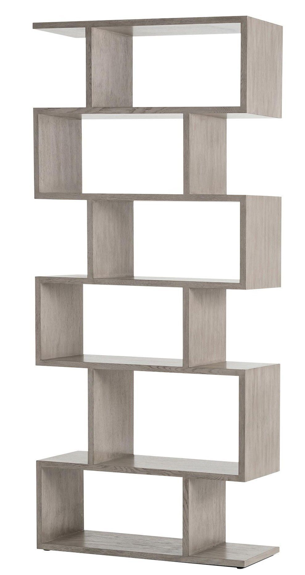 This Contemporary Wood Bookshelf Adds Instant Style Points To Any Room Thanks To A Bold Geom Contemporary Decor Living Room Contemporary Decor Wood Bookshelves