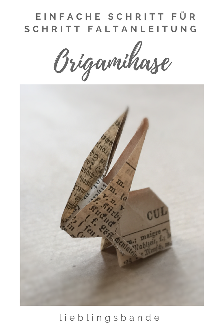 Photo of Origami bunny from old book pages#book #bunny #origami #pages